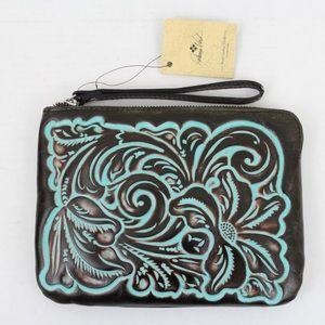 Patricia Nash Bags - Patricia Nash Tooled Leather Cassini Wristlet Bag